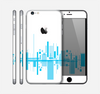 The Abstract Blue Skyline View Skin for the Apple iPhone 6 Plus