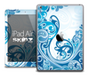 The Abstract Blue Swirl Skin for the iPad Air