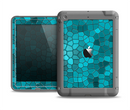 The Abstract Blue Tiled Apple iPad Air LifeProof Fre Case Skin Set
