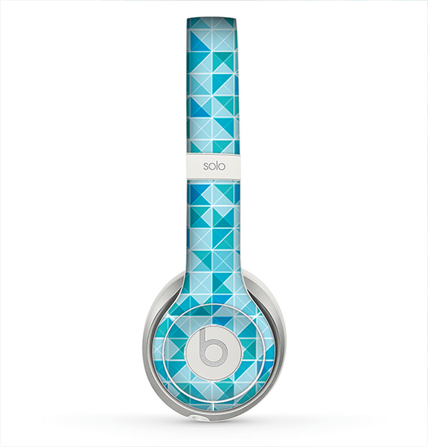 The Abstract Blue Triangular Cubes  Skin for the Beats by Dre Solo 2 Headphones