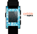 The Abstract Blue Triangular Cubes  Skin for the Pebble SmartWatch