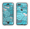 The Abstract Blue Vector Seamless Cloud Pattern Apple iPhone 6 LifeProof Nuud Case Skin Set