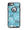 The Abstract Blue Vector Seamless Cloud Pattern Apple iPhone 6 Otterbox Defender Case Skin Set