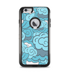 The Abstract Blue Vector Seamless Cloud Pattern Apple iPhone 6 Plus Otterbox Commuter Case Skin Set