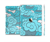 The Abstract Blue Vector Seamless Cloud Pattern Skin Set for the Apple iPad Pro