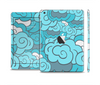 The Abstract Blue Vector Seamless Cloud Pattern Skin Set for the Apple iPad Mini 4