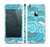 The Abstract Blue Vector Seamless Cloud Pattern Skin Set for the Apple iPhone 5s