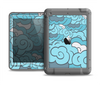 The Abstract Blue Vector Seamless Cloud Pattern Apple iPad Mini LifeProof Nuud Case Skin Set