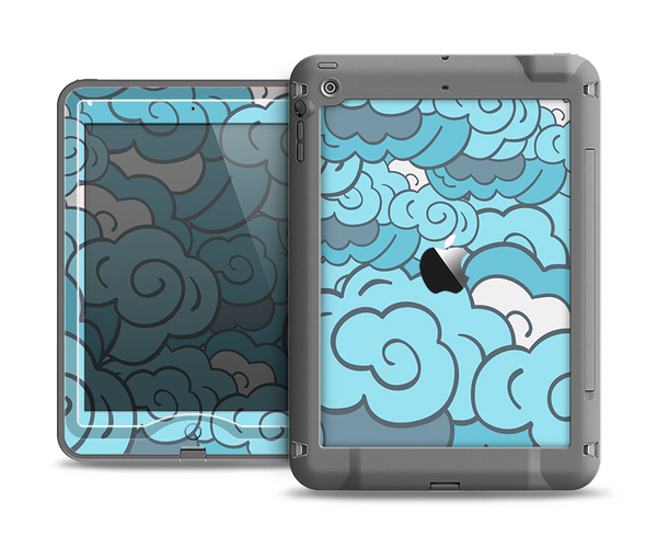 The Abstract Blue Vector Seamless Cloud Pattern Apple iPad Air LifeProof Nuud Case Skin Set