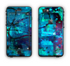 The Abstract Blue Vibrant Colored Art Apple iPhone 6 LifeProof Nuud Case Skin Set