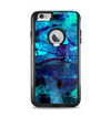 The Abstract Blue Vibrant Colored Art Apple iPhone 6 Plus Otterbox Commuter Case Skin Set