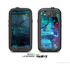 The Abstract Blue Vibrant Colored Art Skin For The Samsung Galaxy S3 LifeProof Case