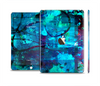 The Abstract Blue Vibrant Colored Art Skin Set for the Apple iPad Air 2