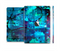 The Abstract Blue Vibrant Colored Art Full Body Skin Set for the Apple iPad Mini 2