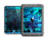 The Abstract Blue Vibrant Colored Art Apple iPad Mini LifeProof Nuud Case Skin Set
