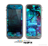 The Abstract Blue Vibrant Colored Art Skin for the Apple iPhone 5c LifeProof Case