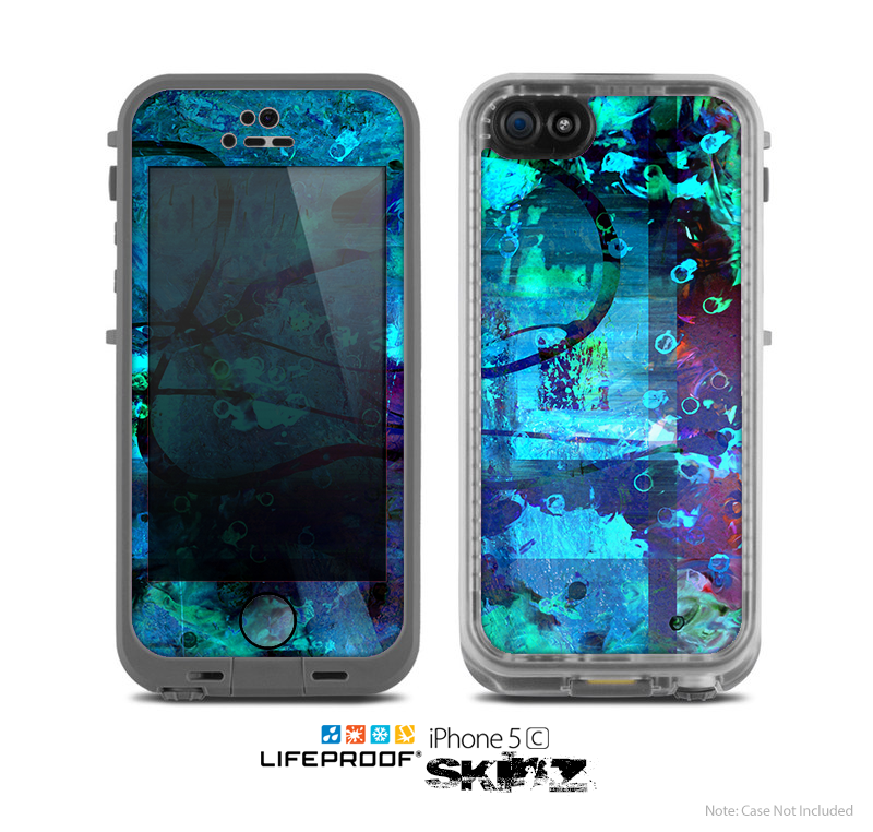 The Black & White Abstract Swirl Pattern Skin for the Apple iPhone 5c LifeProof Case