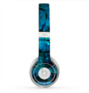 The Abstract Blue Vibrant Colored Art Skin for the Beats by Dre Solo 2 Headphones