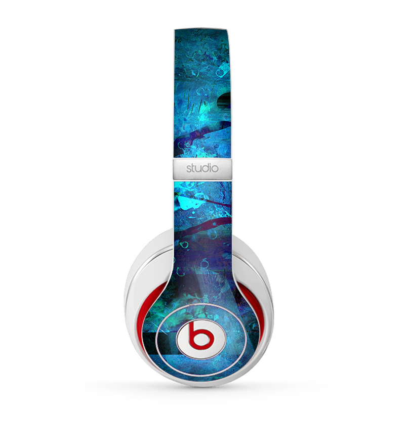 The Abstract Blue Vibrant Colored Art Skin for the Beats by Dre Studio (2013+ Version) Headphones