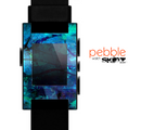 The Abstract Blue Vibrant Colored Art Skin for the Pebble SmartWatch