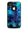The Abstract Blue Vibrant Colored Art Skin for the iPhone 4-4s OtterBox Commuter Case