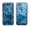 The Abstract Blue Water Pattern Apple iPhone 6 LifeProof Nuud Case Skin Set