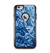 The Abstract Blue Water Pattern Apple iPhone 6 Plus Otterbox Commuter Case Skin Set