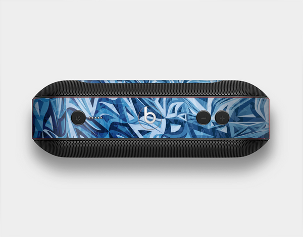 The Abstract Blue Water Pattern Skin Set for the Beats Pill Plus