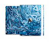 The Abstract Blue Water Pattern Skin Set for the Apple iPad Air 2
