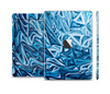The Abstract Blue Water Pattern Full Body Skin Set for the Apple iPad Mini 2