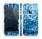 The Abstract Blue Water Pattern Skin Set for the Apple iPhone 5s
