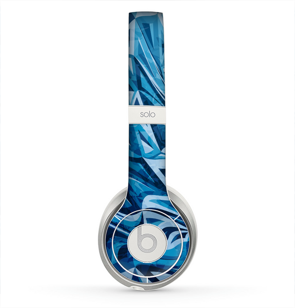 The Abstract Blue Water Pattern Skin for the Beats by Dre Solo 2 Headphones