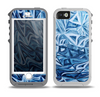 The Abstract Blue Water Pattern Skin for the iPhone 5-5s OtterBox Preserver WaterProof Case