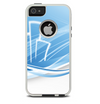 The Abstract Blue & White Future City View Skin For The iPhone 5-5s Otterbox Commuter Case