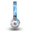 The Abstract Blue & White Future City View Skin for the Beats by Dre Mixr Headphones