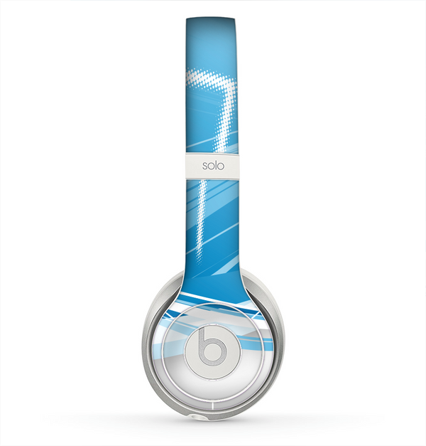 The Abstract Blue & White Future City View Skin for the Beats by Dre Solo 2 Headphones