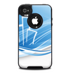 The Abstract Blue & White Future City View Skin for the iPhone 4-4s OtterBox Commuter Case