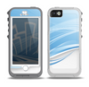 The Abstract Blue & White Future City View Skin for the iPhone 5-5s OtterBox Preserver WaterProof Case