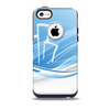The Abstract Blue & White Future City View Skin for the iPhone 5c OtterBox Commuter Case