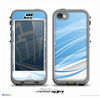 The Abstract Blue & White Future City View Skin for the iPhone 5c nüüd LifeProof Case