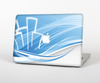 The Abstract Blue & White Future City View for the Apple MacBook Pro 13""