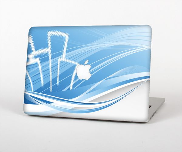 The Abstract Blue & White Future City View for the Apple MacBook Pro Retina 15""