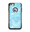 The Abstract Blue & White Waves Apple iPhone 6 Plus Otterbox Commuter Case Skin Set
