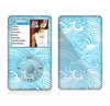 The Abstract Blue & White Waves Skin For The Apple iPod Classic