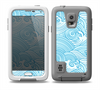 The Abstract Blue & White Waves Skin for the Samsung Galaxy S5 frē LifeProof Case