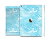 The Abstract Blue & White Waves Skin Set for the Apple iPad Air 2