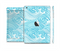 The Abstract Blue & White Waves Full Body Skin Set for the Apple iPad Mini 2