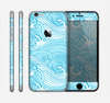The Abstract Blue & White Waves Skin for the Apple iPhone 6
