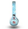 The Abstract Blue & White Waves Skin for the Beats by Dre Mixr Headphones