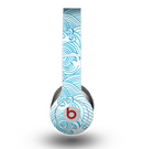 The Abstract Blue & White Waves Skin for the Beats by Dre Original Solo-Solo HD Headphones
